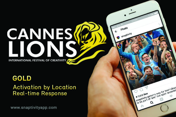 Snaptivity wins 2 Gold Lions at Cannes Lions Festival